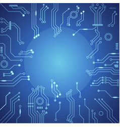 Abstract technology circuit board vector image vector image