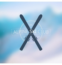 Alpine ski club logo vector