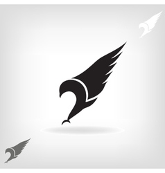 Black eagle with expanded wings vector