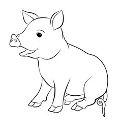 Cute pig cartoon eps 10 vector