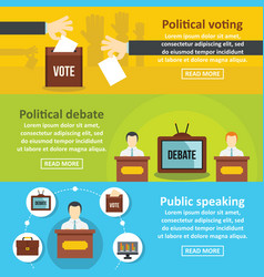 election voting banner horizontal set flat style vector image
