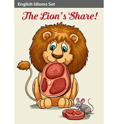 English idiom showing a lion vector image