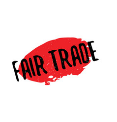 Fair trade rubber stamp vector