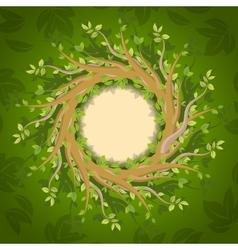 Floral forest frame vector image vector image