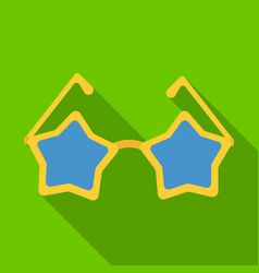 Glasses with starsfans single icon in flat style vector