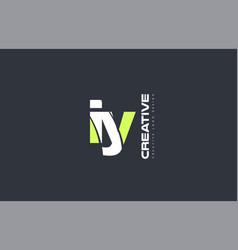 green letter iy i y combination logo icon company vector image vector image