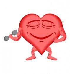 heart healthy vector image vector image