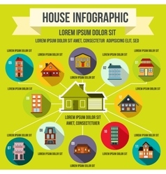 House infographic elements flat style vector