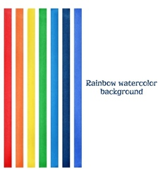 Rainbow watercolor background vector image vector image