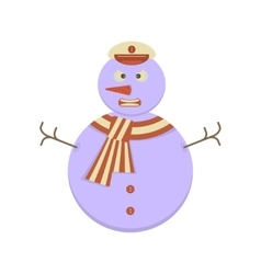 Snowman with angry face vector