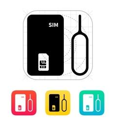 Standard SIM icon vector image