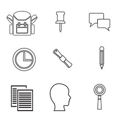 White background with sketch contour items vector