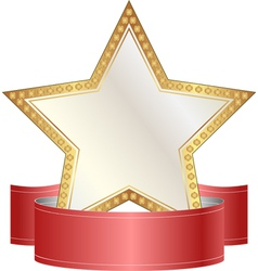 gold and white star vector image