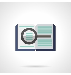 Forensic literature flat color icon vector