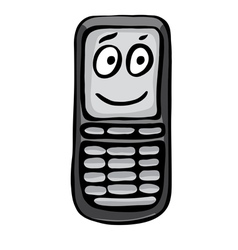 Funny mobile phone vector