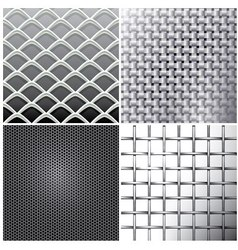 Metallic mesh set vector