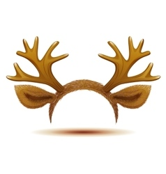 Mask deer antler and ears vector