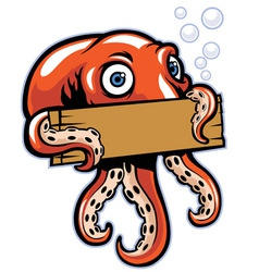Octopus hold the sign vector