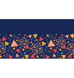Abstract celebration horizontal seamless pattern vector