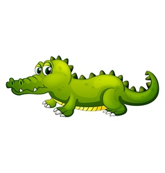 A giant green crocodile vector