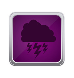 purple emblem cloud ray icon vector image