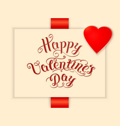 Happy valentines day card with elegant text and vector