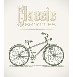 Classic cruiser bicycle vector