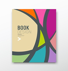 Cover magazine abstract colorful curve design vector