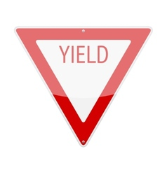 Yield sign vector
