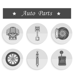 Set of spare parts for car vector