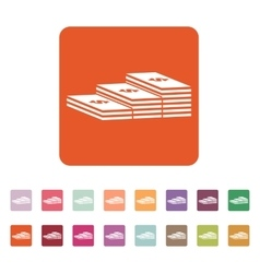The stack of banknotes icon greenback bank note vector