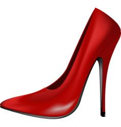 red shoe vector image