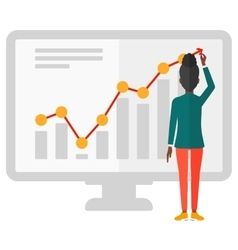 Business woman presenting report vector image