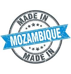 Made in mozambique blue round vintage stamp vector