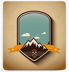 Adventure badge design All items in layers vector image vector image