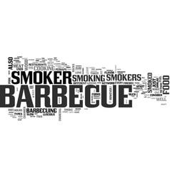 Barbecue smoker text word cloud concept vector