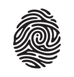 black finger print vector image vector image