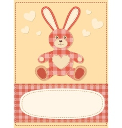 Card with the hare for baby shower 3 vector image vector image