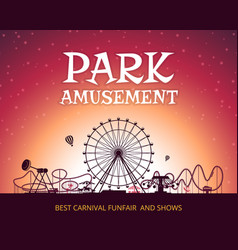 color background of amusement park poster vector image vector image