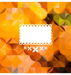 Colorful abstract triangular orange pattern vector image