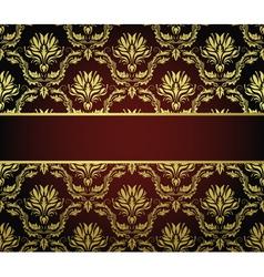floral banner background vector image