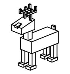 Isometric christmas deer design vector