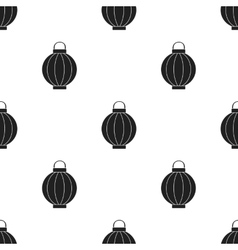 Korean lantern icon in black style isolated on vector