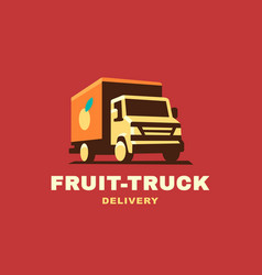 logo delivery service concept vector image vector image