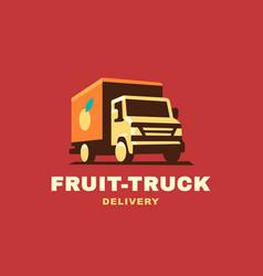 logo delivery service concept vector image