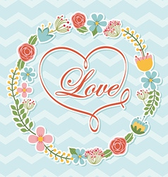 love postcard vector image