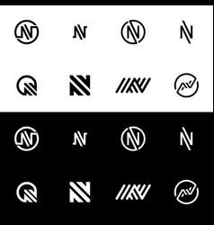 n logo symbol vector image vector image