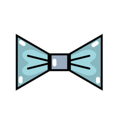 Nice bowtie style decoration design vector