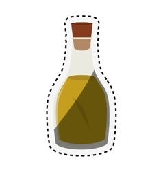 Olive oil isolated icon vector