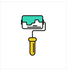 Paint roller icon on white background vector